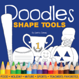 Doodles Colorable Shape Tool Template Book – Activity Starters