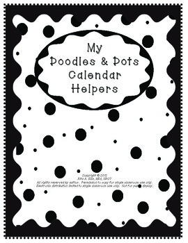 Doodles & Dots - Black & White - Calendar Helpers