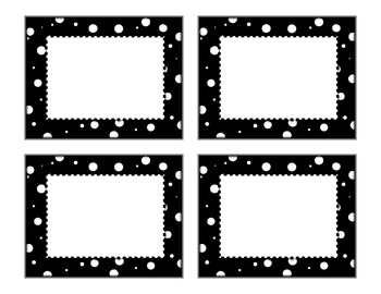Doodles & Dots - Black & White Class Signs