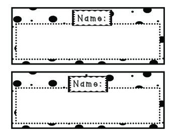 Doodles & Dots Black & White Name Plates