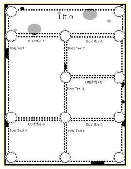Doodles & Dots - Black & White Newsletter