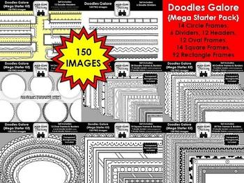 Doodles Galore {Mega Starter Pack - 150 IMAGES!}