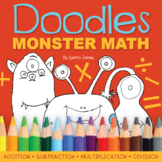 Doodles Monster Math Coloring   Addition, Subtraction, Mul