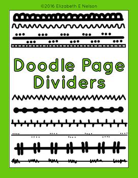 Doodles Page Dividers Clip Art
