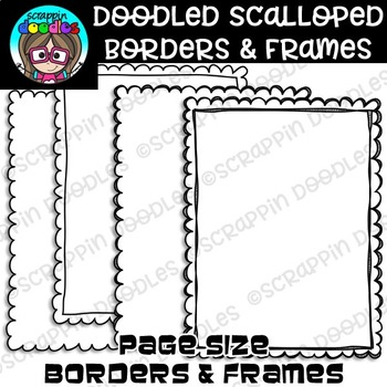 Doodles Scalloped Borders & Frames