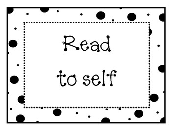 Doodles and Dots Black and White Readers Workshop Signs