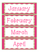Doodles and Dots Pink and Green Calendar Helpers