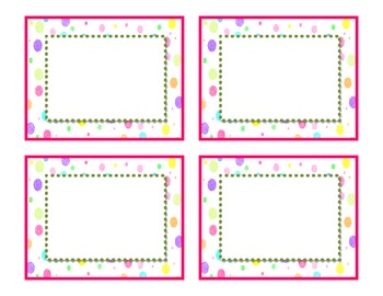 Doodles and Dots Pink and Green Class Signs