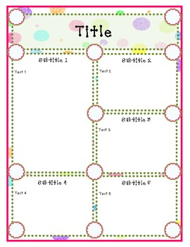 Doodles and Dots Pink and Green Newsletter