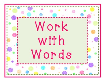 Doodles and Dots Pink and Green Readers Workshop Signs