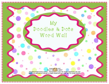 Doodles and Dots Pink and Green Word Wall