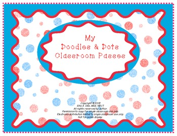 Doodles and Dots Red White and Blue Class Passes