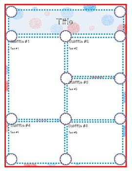 Doodles and Dots Red White and Blue Editable Newsletter
