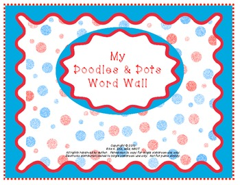 Doodles and Dots Red White and Blue Word Wall