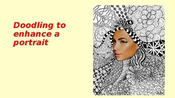 Doodling to Enhance a Portrait