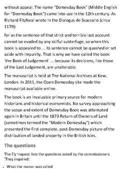 Doomsday Book Handout