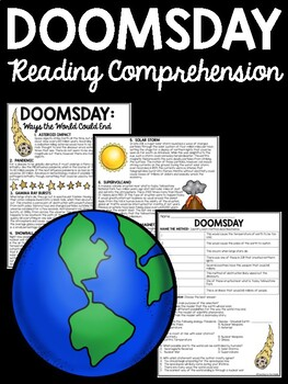 Doomsday Reading Comprehension Articles, Fire and Ice by F