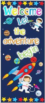 """Door 32"""" x 72"""" Space - Let the adventure begin"""