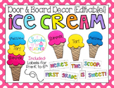 Door & Board Decor {Editable!} Ice Cream Edition