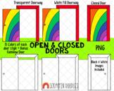 Door ClipArt - Open Doors Clip Art - Closed Doors Clipart