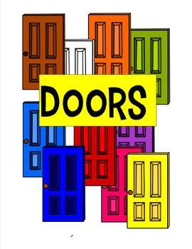 Doors Clip Art - 10 pieces - black line included