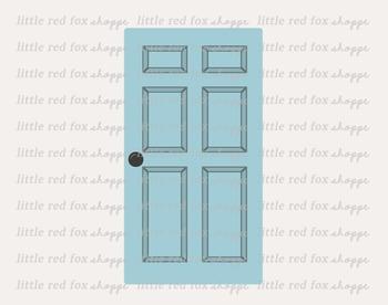 Door Clipart; House, Building, Wood, Wooden