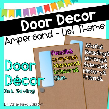 Door Decor: Ampersand List Style