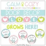 Door Decor {Editable} - Calm & Cozy Collection
