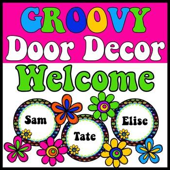 Door Decor ~ Groovy ~ Hippie