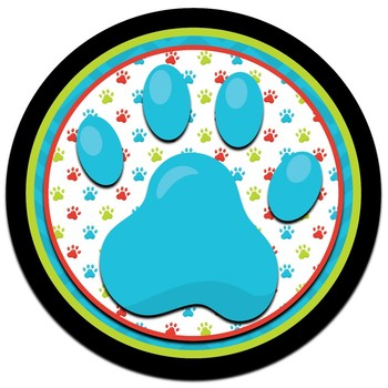 Door Decor ~ Puppy Paw Prints