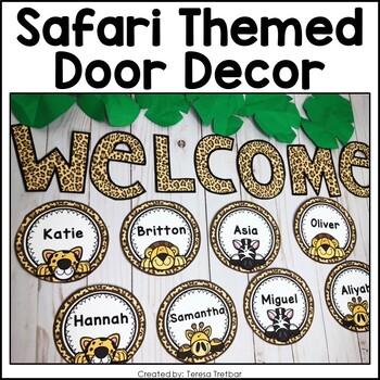 Door Decor ~ Safari Themed