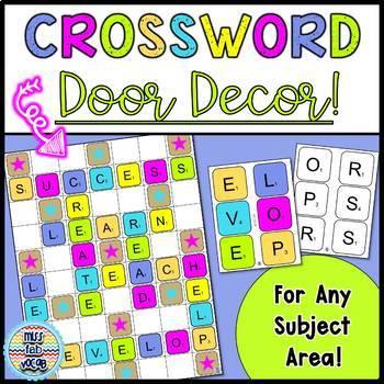 Crossword Style Door Decor!
