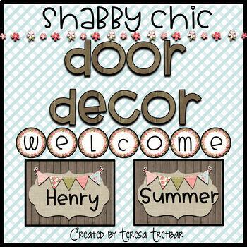 FREE Door Decor ~ Shabby ~ Wood ~ Editable