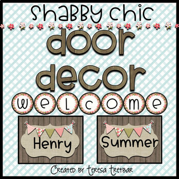 FREE Door Decor ~ Shabby ~ Wood ~ Editable