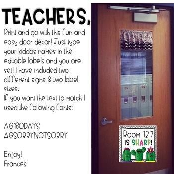 Door Decor: We Are Sharp!