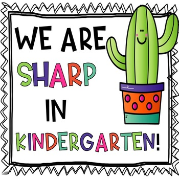 Cactus Door Decor: We Are Sharp!