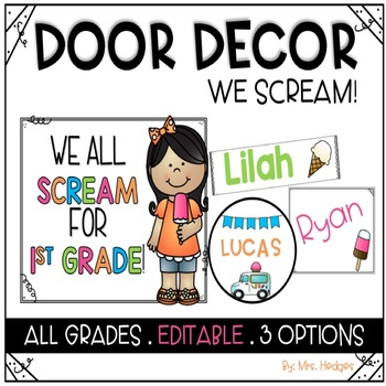 Door Decor: We Scream for Ice Cream