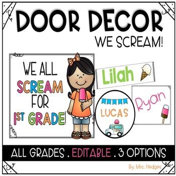Door Decor: We Scream for Ice Cream