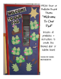 Door Decoration / Bulletin Board Kit - Frog Theme (Welcome to our Pad)