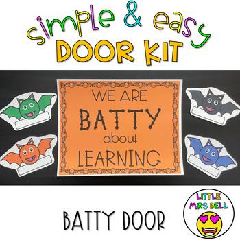 Door Decoration Kit: Bat Door