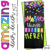 Door Decoration Set: Amazing Things Happen