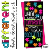 "Door Decoration Set: ""Different"" - April/ Autism Awareness"