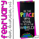 "Door Decoration Set: February ""Be the Peace"""