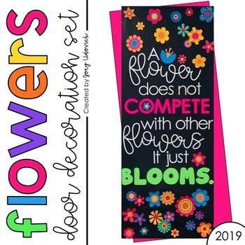 Door Decoration Set Flowers April By Joey Udovich Tpt