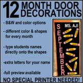 Door Decorations: Months