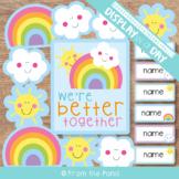 Door Decorations Rainbow Better Together