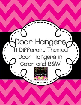 Door Hangers {Color and B&W}