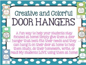 Door Hangers - Creative and Colorful!
