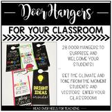 Door Hangers For Your Classroom