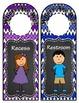 Door Hangers: Kids and Chevron - 10 Hangers in 2 Styles: Chalkboard and White -